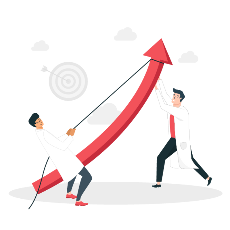 business growth plan with growth journey in a data-driven way